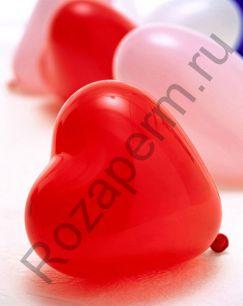 """Связка из 25 шаров в форме сердец с гелием 14"""""""